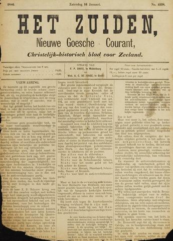 Het Zuiden, Christelijk-historisch blad 1886-01-16
