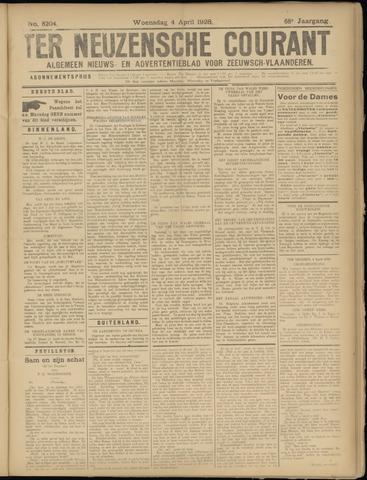 Ter Neuzensche Courant. Algemeen Nieuws- en Advertentieblad voor Zeeuwsch-Vlaanderen / Neuzensche Courant ... (idem) / (Algemeen) nieuws en advertentieblad voor Zeeuwsch-Vlaanderen 1928-04-04