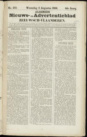 Ter Neuzensche Courant. Algemeen Nieuws- en Advertentieblad voor Zeeuwsch-Vlaanderen / Neuzensche Courant ... (idem) / (Algemeen) nieuws en advertentieblad voor Zeeuwsch-Vlaanderen 1864-08-03