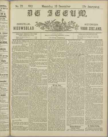 De Zeeuw. Christelijk-historisch nieuwsblad voor Zeeland 1912-12-23