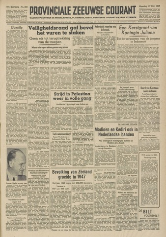 Provinciale Zeeuwse Courant 1948-12-27