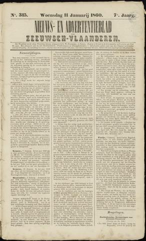 Ter Neuzensche Courant. Algemeen Nieuws- en Advertentieblad voor Zeeuwsch-Vlaanderen / Neuzensche Courant ... (idem) / (Algemeen) nieuws en advertentieblad voor Zeeuwsch-Vlaanderen 1860-01-11