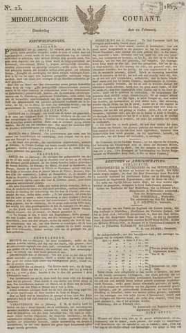 Middelburgsche Courant 1827-02-22