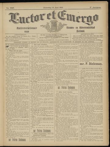 Luctor et Emergo. Antirevolutionair nieuws- en advertentieblad voor Zeeland / Zeeuwsch-Vlaanderen. Orgaan ter verspreiding van de christelijke beginselen in Zeeuwsch-Vlaanderen 1913-06-14