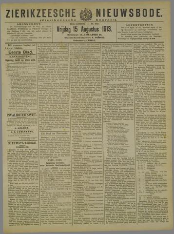 Zierikzeesche Nieuwsbode 1913-08-15