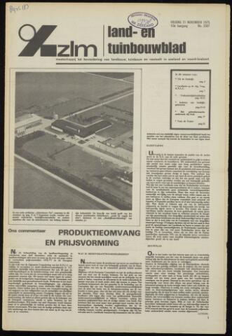 Zeeuwsch landbouwblad ... ZLM land- en tuinbouwblad 1975-11-21