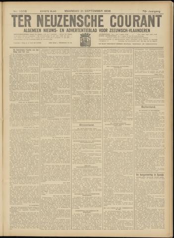 Ter Neuzensche Courant. Algemeen Nieuws- en Advertentieblad voor Zeeuwsch-Vlaanderen / Neuzensche Courant ... (idem) / (Algemeen) nieuws en advertentieblad voor Zeeuwsch-Vlaanderen 1936-09-21