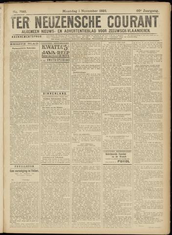 Ter Neuzensche Courant. Algemeen Nieuws- en Advertentieblad voor Zeeuwsch-Vlaanderen / Neuzensche Courant ... (idem) / (Algemeen) nieuws en advertentieblad voor Zeeuwsch-Vlaanderen 1926-11-01