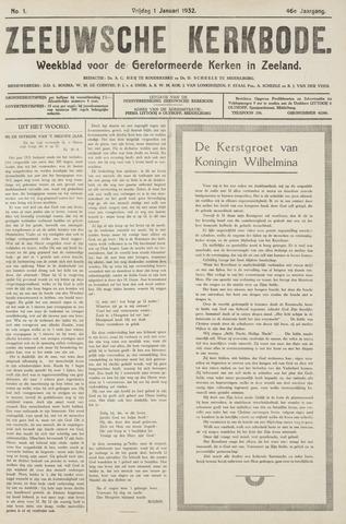 Zeeuwsche kerkbode, weekblad gewijd aan de belangen der gereformeerde kerken/ Zeeuwsch kerkblad 1932