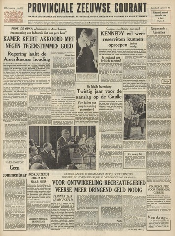 Provinciale Zeeuwse Courant 1962-09-08