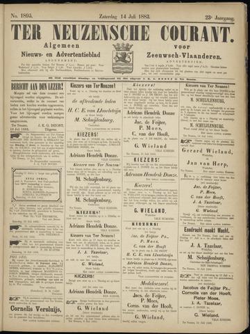 Ter Neuzensche Courant. Algemeen Nieuws- en Advertentieblad voor Zeeuwsch-Vlaanderen / Neuzensche Courant ... (idem) / (Algemeen) nieuws en advertentieblad voor Zeeuwsch-Vlaanderen 1883-07-14