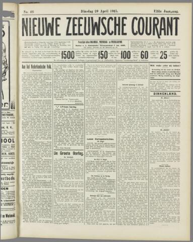 Nieuwe Zeeuwsche Courant 1915-04-20