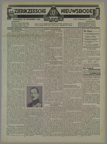 Zierikzeesche Nieuwsbode 1940-11-20