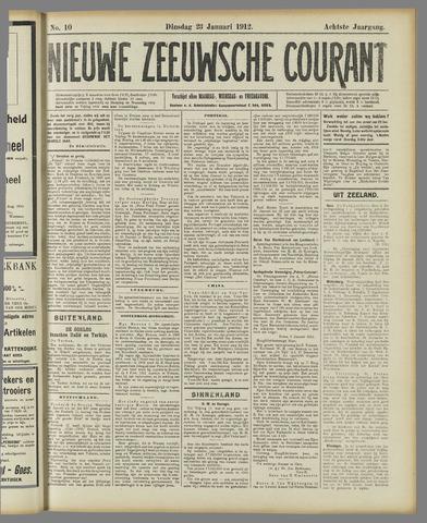 Nieuwe Zeeuwsche Courant 1912-01-23