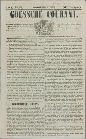 Goessche Courant 1864-07-07