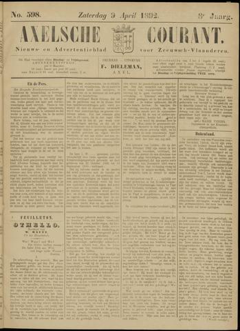 Axelsche Courant 1892-04-09