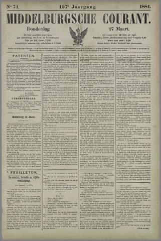 Middelburgsche Courant 1884-03-27