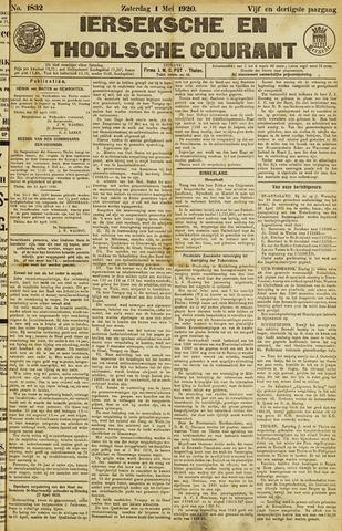 Ierseksche en Thoolsche Courant 1920-05-01