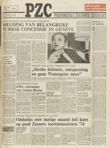 Provinciale Zeeuwse Courant 1974-08-13