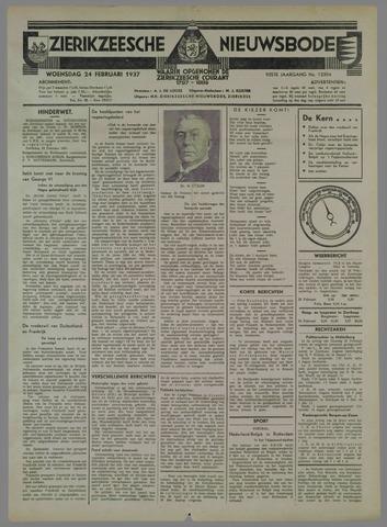 Zierikzeesche Nieuwsbode 1937-02-24