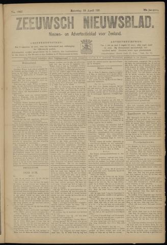 Ter Neuzensch Volksblad. Vrijzinnig nieuws- en advertentieblad voor Zeeuwsch- Vlaanderen / Zeeuwsch Nieuwsblad. Nieuws- en advertentieblad voor Zeeland 1919-04-19
