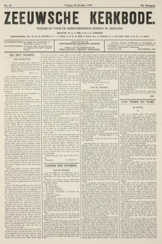 Zeeuwsche kerkbode, weekblad gewijd aan de belangen der gereformeerde kerken/ Zeeuwsch kerkblad 1939-10-20