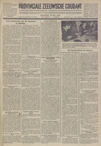 Provinciale Zeeuwse Courant 1942-01-19