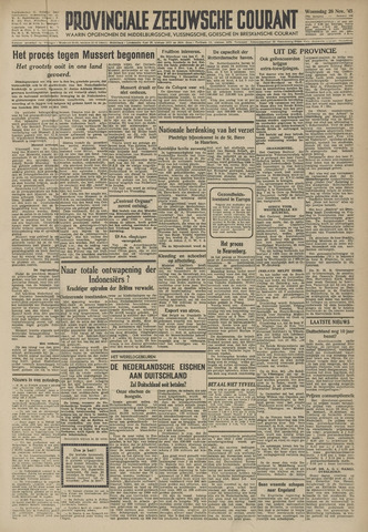 Provinciale Zeeuwse Courant 1945-11-28