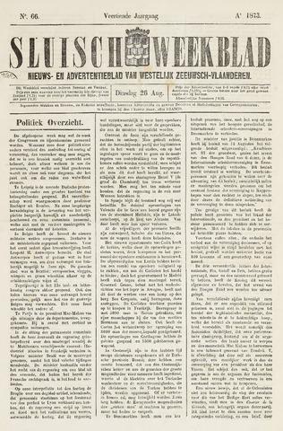Sluisch Weekblad. Nieuws- en advertentieblad voor Westelijk Zeeuwsch-Vlaanderen 1873-08-26