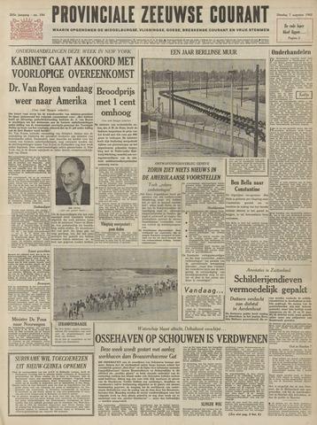 Provinciale Zeeuwse Courant 1962-08-07