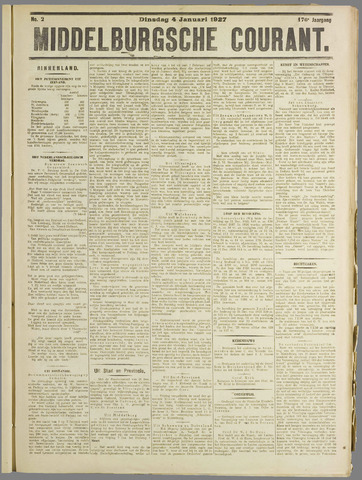 Middelburgsche Courant 1927-01-04