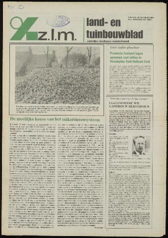 Zeeuwsch landbouwblad ... ZLM land- en tuinbouwblad 1981-10-30