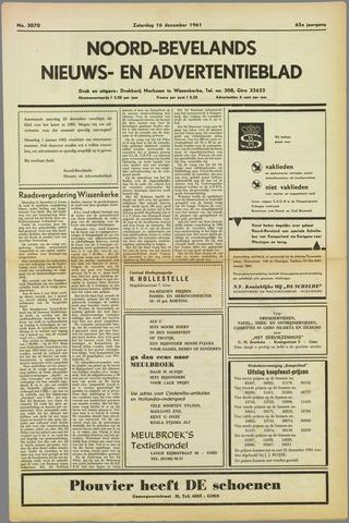 Noord-Bevelands Nieuws- en advertentieblad 1961-12-16