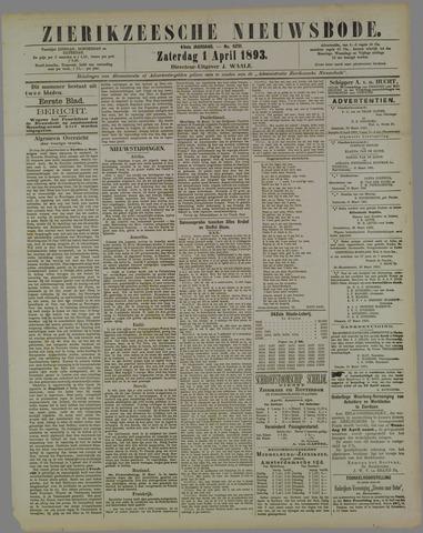 Zierikzeesche Nieuwsbode 1893-04-01