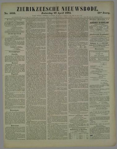 Zierikzeesche Nieuwsbode 1882-04-29