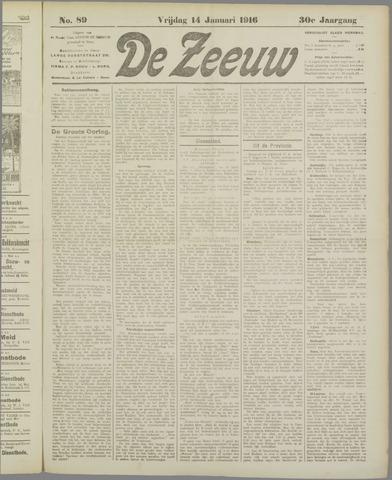 De Zeeuw. Christelijk-historisch nieuwsblad voor Zeeland 1916-01-14