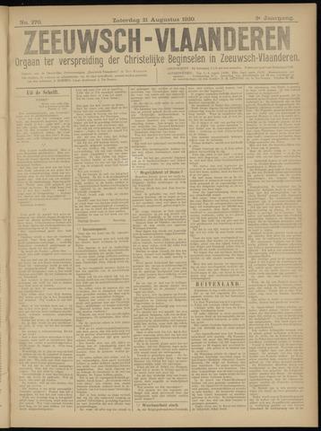 Luctor et Emergo. Antirevolutionair nieuws- en advertentieblad voor Zeeland / Zeeuwsch-Vlaanderen. Orgaan ter verspreiding van de christelijke beginselen in Zeeuwsch-Vlaanderen 1920-08-21