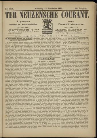 Ter Neuzensche Courant. Algemeen Nieuws- en Advertentieblad voor Zeeuwsch-Vlaanderen / Neuzensche Courant ... (idem) / (Algemeen) nieuws en advertentieblad voor Zeeuwsch-Vlaanderen 1882-09-13