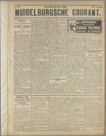 Middelburgsche Courant 1922-07-08