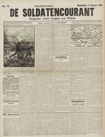 De Soldatencourant. Orgaan voor Leger en Vloot 1915-02-03