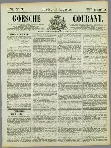 Goessche Courant 1891-08-11