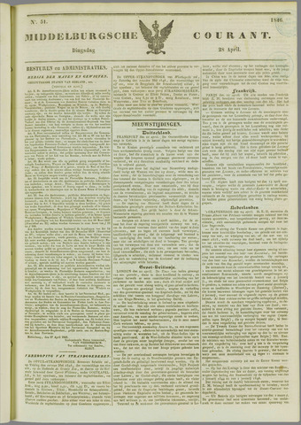 Middelburgsche Courant 1846-04-28
