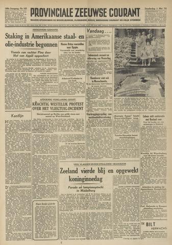 Provinciale Zeeuwse Courant 1952-05-01