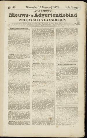 Ter Neuzensche Courant. Algemeen Nieuws- en Advertentieblad voor Zeeuwsch-Vlaanderen / Neuzensche Courant ... (idem) / (Algemeen) nieuws en advertentieblad voor Zeeuwsch-Vlaanderen 1862-02-12