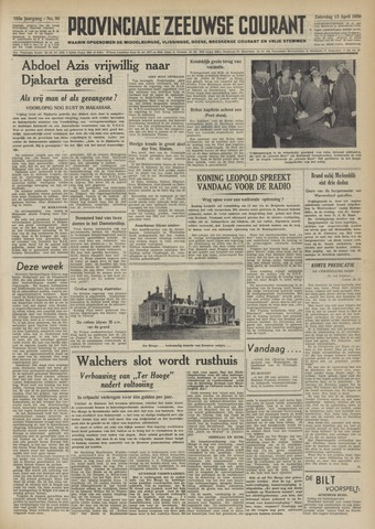 Provinciale Zeeuwse Courant 1950-04-15