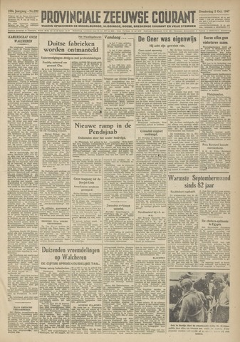 Provinciale Zeeuwse Courant 1947-10-02