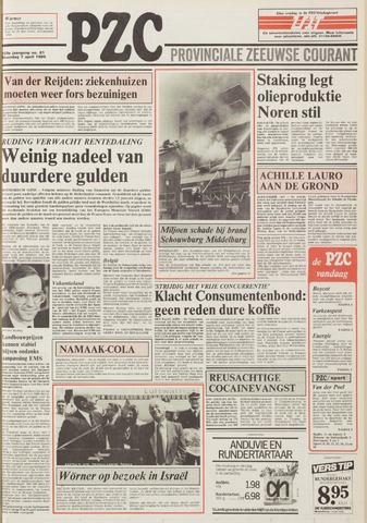 Provinciale Zeeuwse Courant 1986-04-07