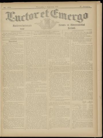 Luctor et Emergo. Antirevolutionair nieuws- en advertentieblad voor Zeeland / Zeeuwsch-Vlaanderen. Orgaan ter verspreiding van de christelijke beginselen in Zeeuwsch-Vlaanderen 1917-08-01