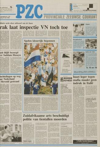 Provinciale Zeeuwse Courant 1992-07-27