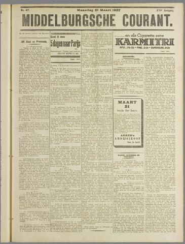 Middelburgsche Courant 1927-03-21